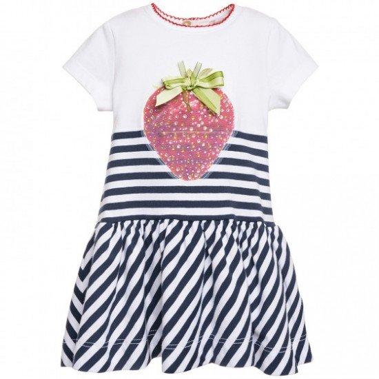 Лятна раирана рокля за бебе на MONNALISA