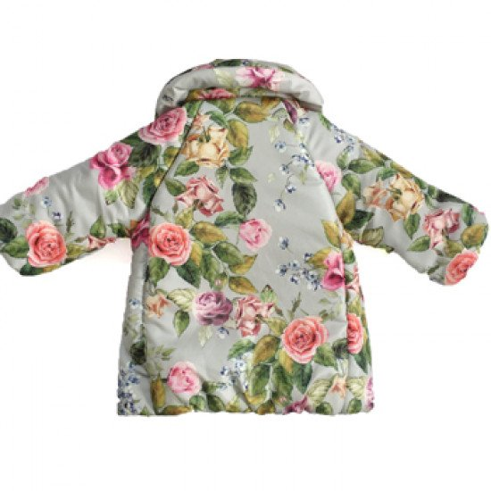 "Бебешко зимно яке ""Рози"" на MONNALISA"