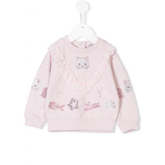 """Бебешки пуловер """"Коте"""" за момиче на MONNALISA"""