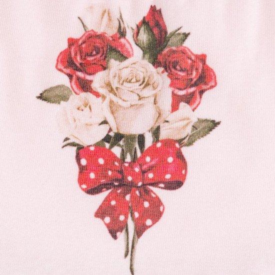 "Бебешки лигавник за момиче ""Роза"""