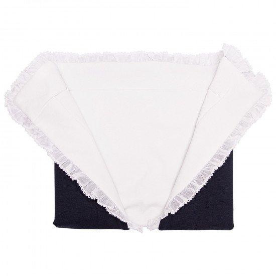 "Бебешко памучно одеяло за момиче ""Мече"" MONNALISA"