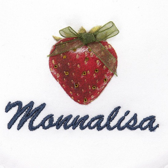 Памучен бебешки лигавник с бродерия за момиче на Monnalisa