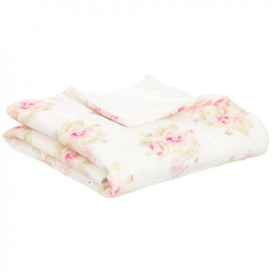 """Бебешка памучна пелена за изписване """"Рози"""" на MONNALISA"""
