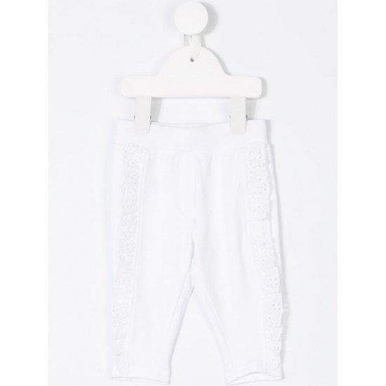 Бебешки пролетен панталон в бяло с Доналд Дък
