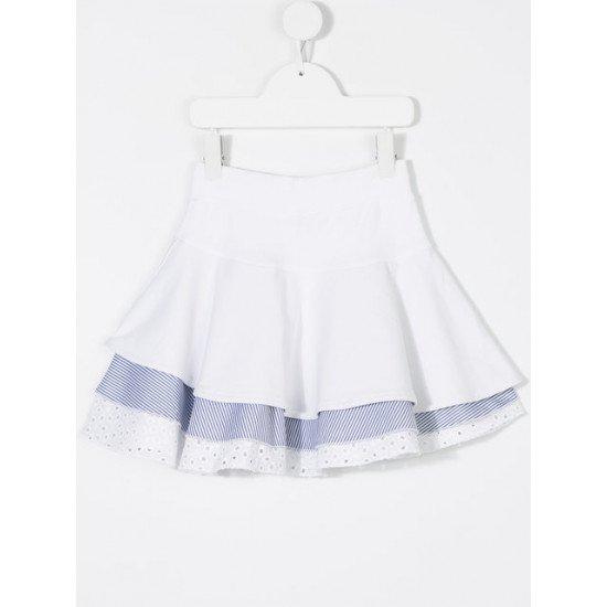 Детска лятна пола в бяло за момиче