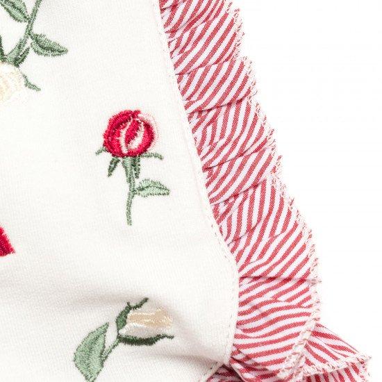 Къси бебешки панталони с бродирани цветя MONNALISA