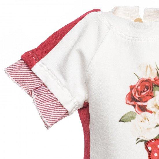 """Бебешка лятна рокля с панделка """"Рози"""""""