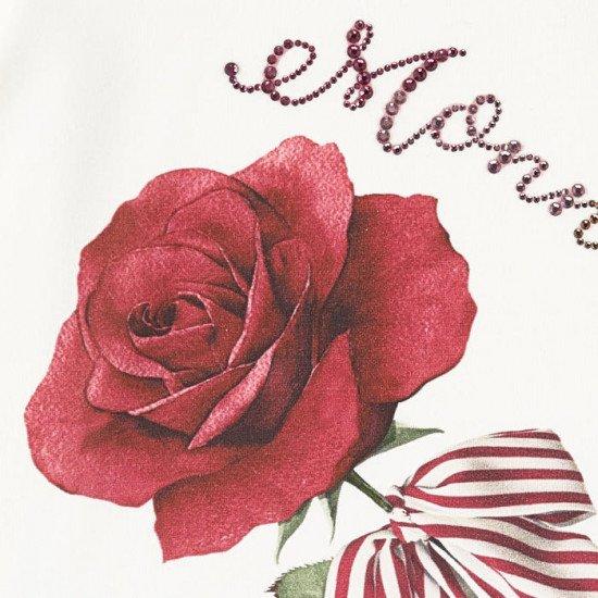 """Детска блуза с къс ръкав """"Роза"""" за момиче"""