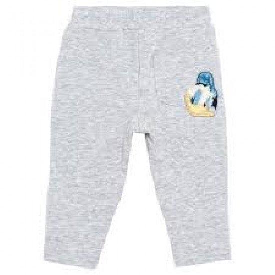 Бебешки пролетен панталон в сиво с Доналд Дък