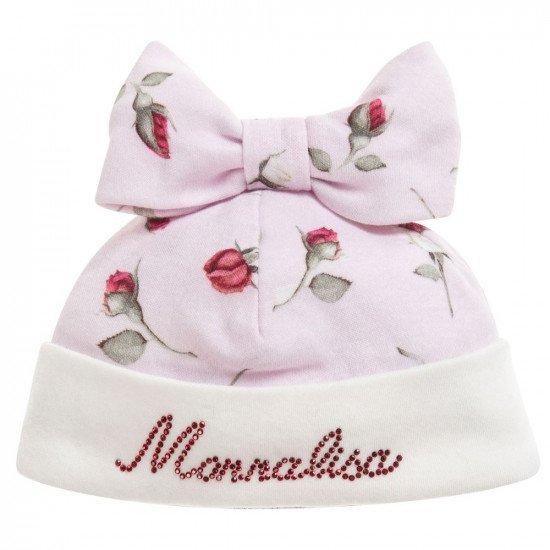 """Бебешка пролетна шапка """"Рози"""" Monnalisa"""
