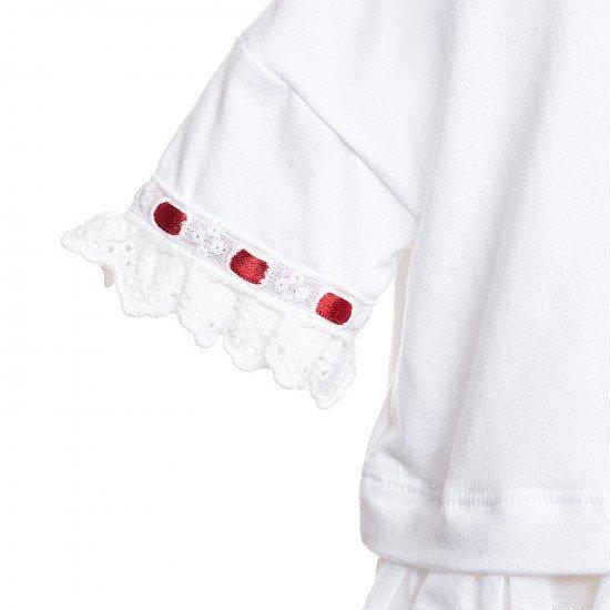 Бебешка блуза с Английска дантела за момиче на MONNALISA