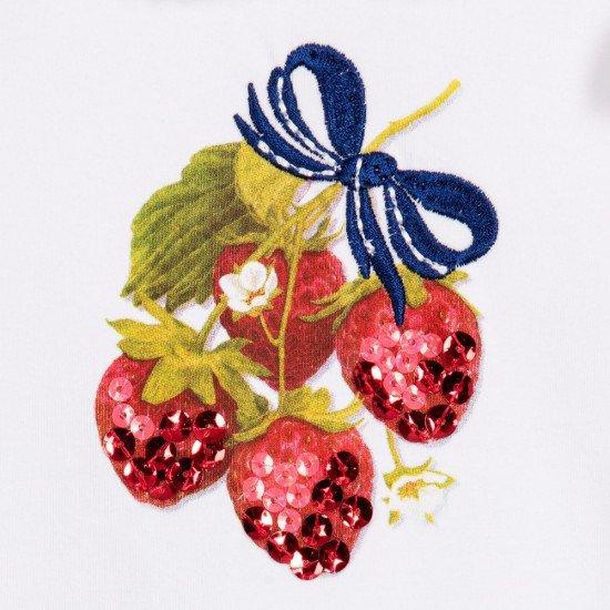 Гащеризон - шорти с ягоди и бродерия панделка на MONNALISA