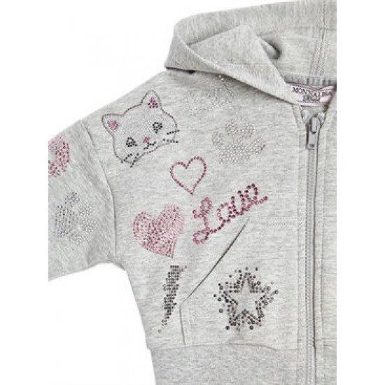 """Бебешки суичър с  """"Коте""""  на Monnalisa"""