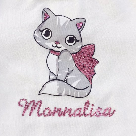 """Бебешка блуза за момиче """"Meow"""" на MONNALISA"""