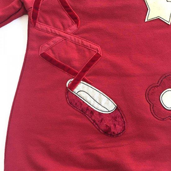"""Бебешка коледна рокля в червено """"Звезда"""" на MONNALISA"""