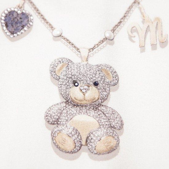 """Бебешки ромпър """"Медальон"""" за момиче на MONNALISA"""