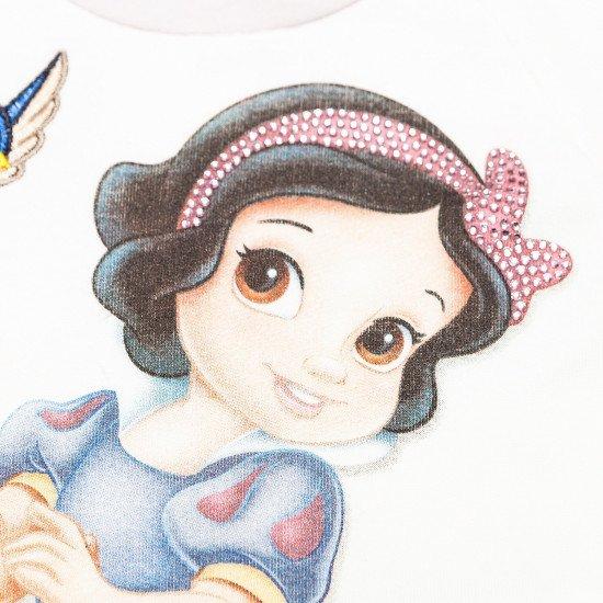"""Бебешки топ в бяло с принт """"Снежанка"""" на MONNALISA"""