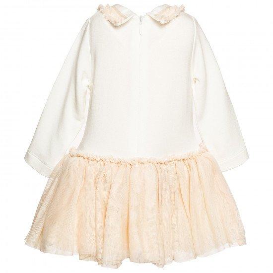 Официална бебешка рокля с тюлена пола на MONNALISA