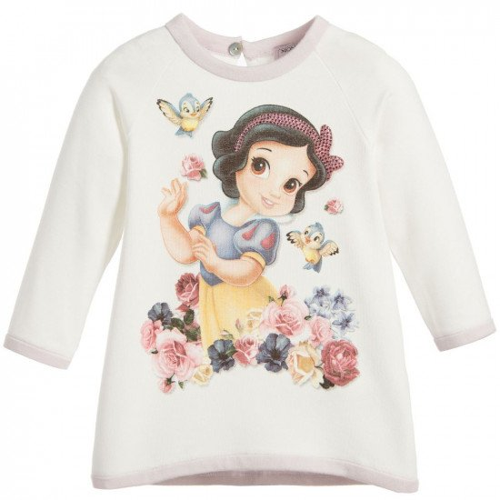 "Бебешка зимна рокля ""Снежанка"" на MONNALISA"