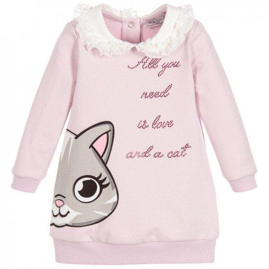 """Детска зимна рокля с яка """"Коте"""""""