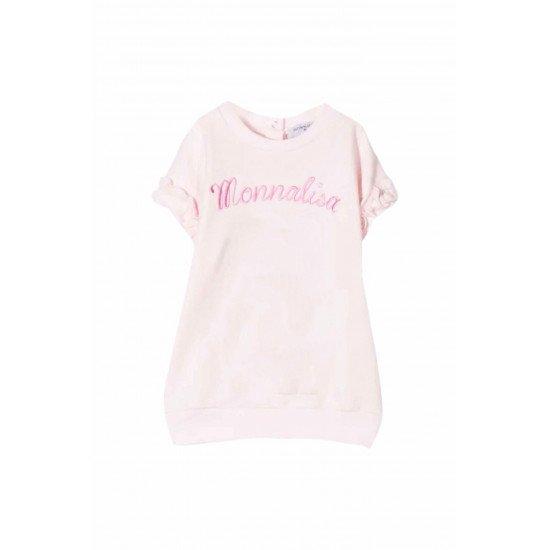 Розова бебешка рокля с къдрици