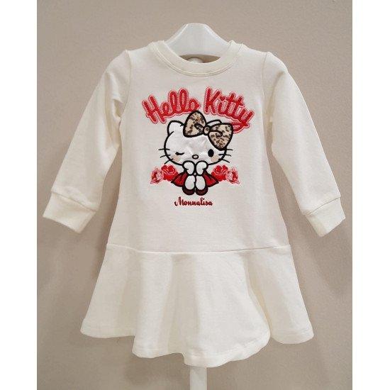 Бебешка рокля в бяло Hello Kitty