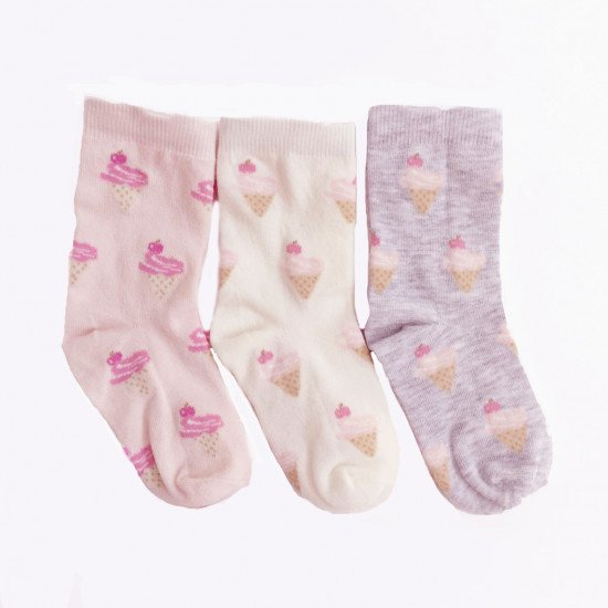Детски пролетни чорапи Сладолед за момиче