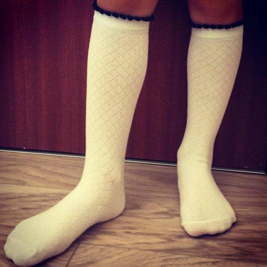 Детски пролетни чорапи до коляно Step