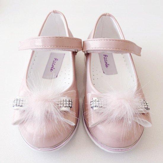 Детски официални обувки в розово за момиче
