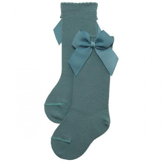Детски чорапи до коляно с панделка