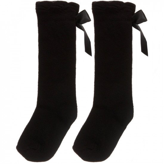 Детски чорапи с панделка до коляното за момиче