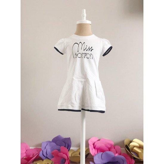 Детска лятна рокля в бяло