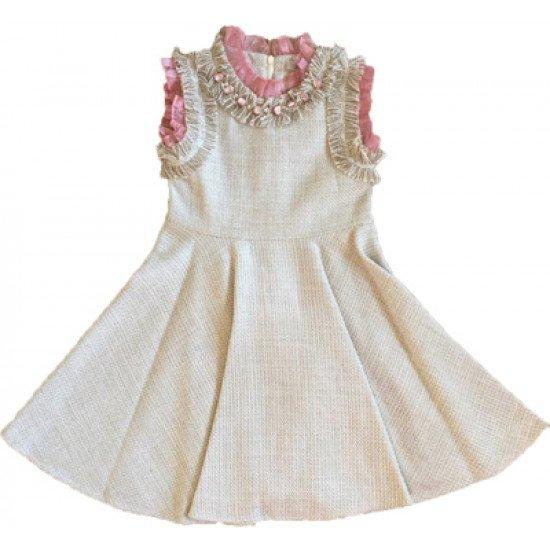 Официална рокля с диаманти на LOME KIDS