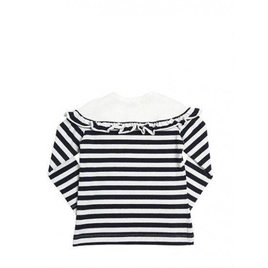 Детска тениска с дълъг ръкав райе на MONNALISA