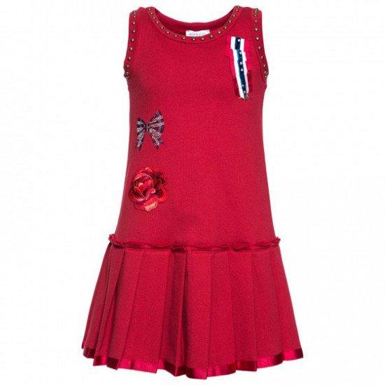 Детска зимна рокля с плисе пола на MONNALISA
