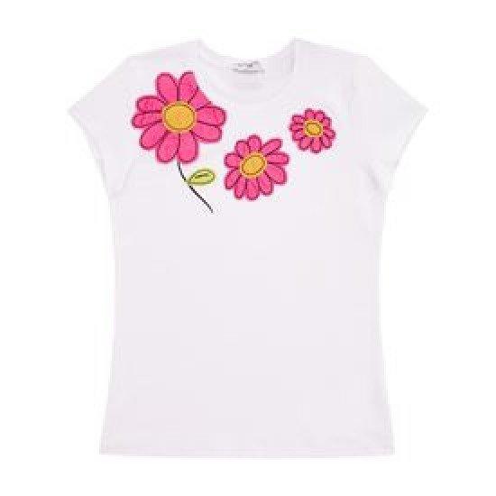 Детска тениска с цветя за момиче на MONNALISA