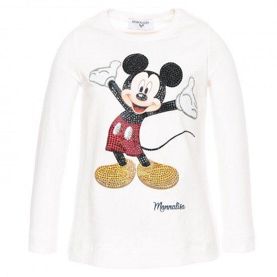 """Детска блуза в бяло за момиче """"Мики Маус"""""""