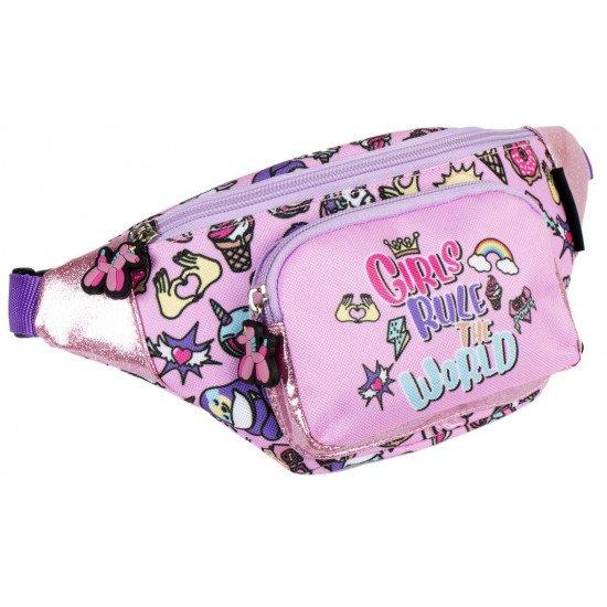 """Детска чанта за през кръста момиче """"GIRLS RULE"""""""