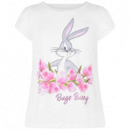 """Детска лятна тениска в бяло """"Лалета"""""""