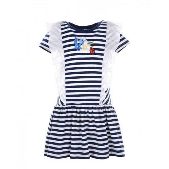 Детска лятна рокля на райе