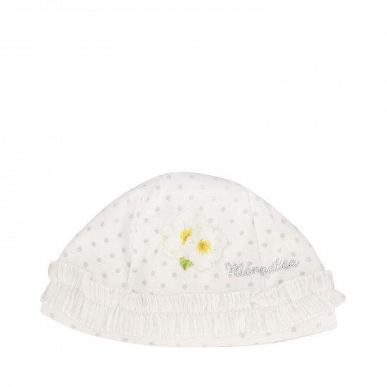 """Бебешка шапка за момиче """"Цветя"""""""