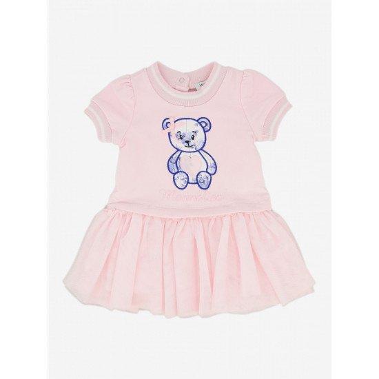 """Бебешка рокля в розово """"Мече"""""""