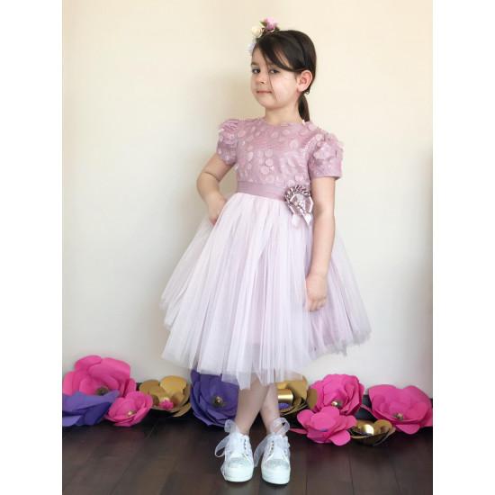 Официална детска рокля в лилаво Piccole