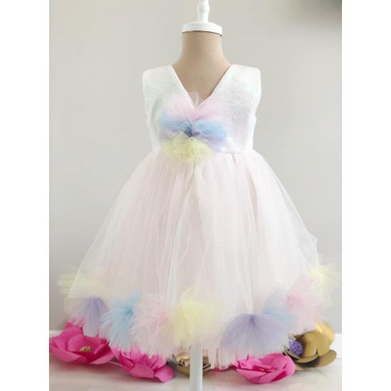 Детска рокля с пайети Piccole
