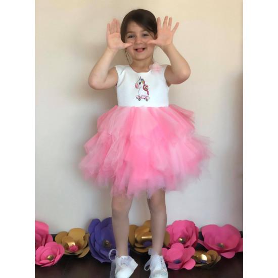 Детска рокля с туту пола Еднорог