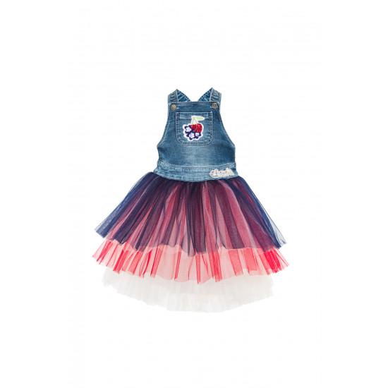 """Детска дънкова рокля """"Череши"""""""